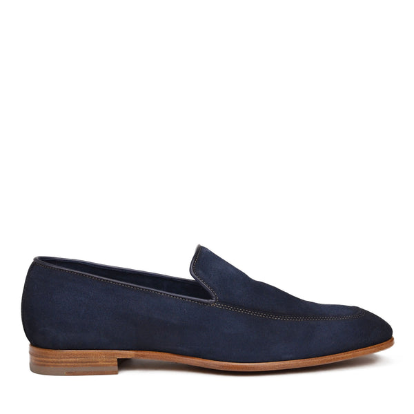 Ivan Suede Slip-On Loafer - Navy