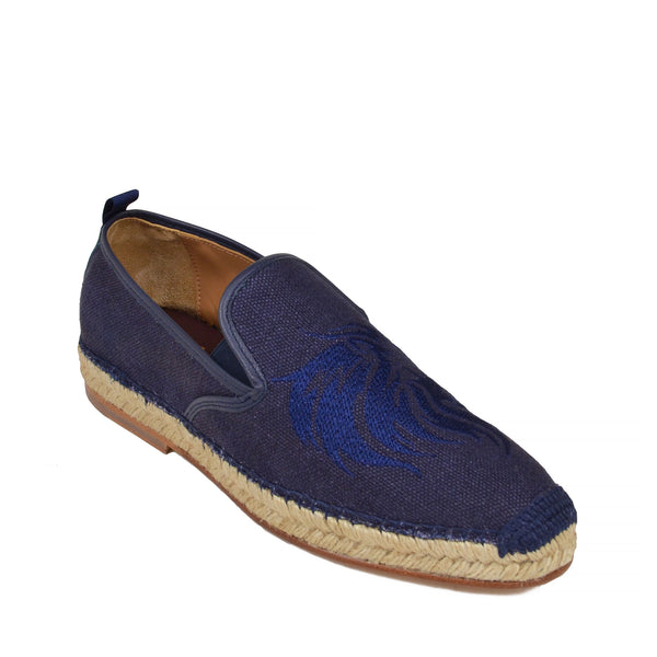 Portofino Linen Slip-on - Navy Linen