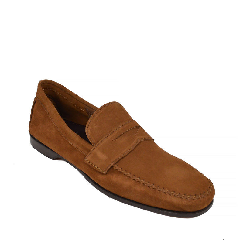 Riva Suede Slip-on Loafer - Cognac