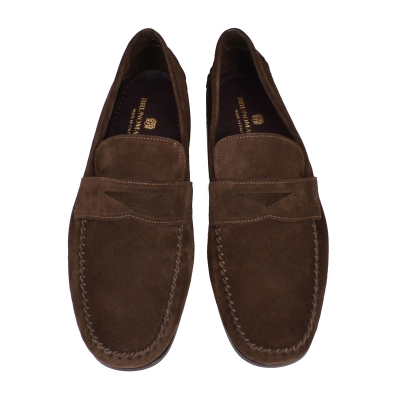 Riva Suede Slip-on Loafer - Dark Brown