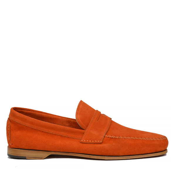 Riva Suede Slip-on Loafer - Orange