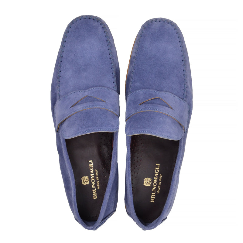 Riva Suede Slip-on Loafer - Light Blue