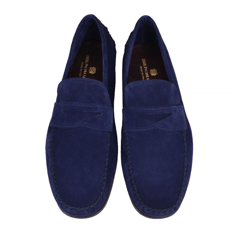 Riva Suede Slip-on Loafer - Navy