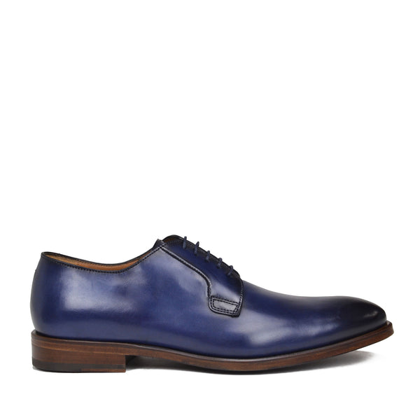 Romeo lace up - Blue Leather