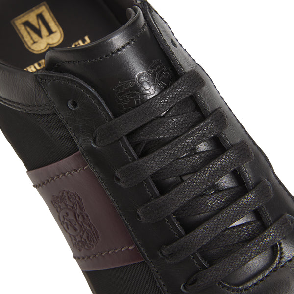 Evo Leather/Nylon Sneaker - Black