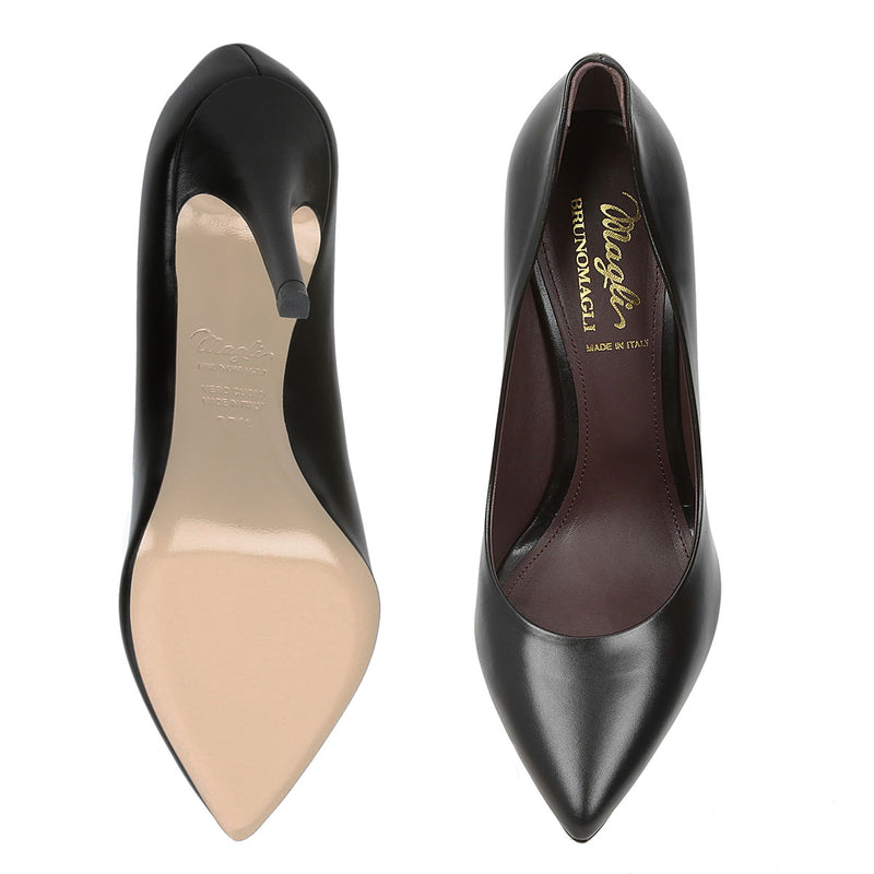 Fosca Pointed-Toe Pump, 3.5-Inch - Black Leather