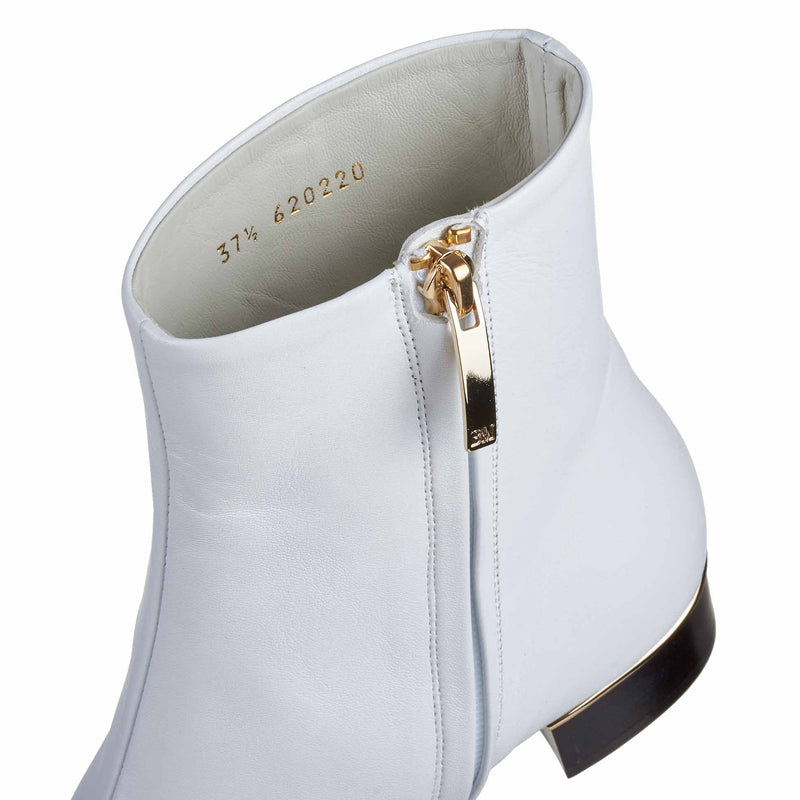 Brigitta Boot  - White Leather - Online Exclusive
