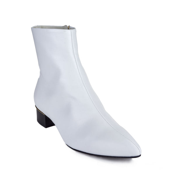 Brigitta Boot  - White Leather - Soho Exclusive