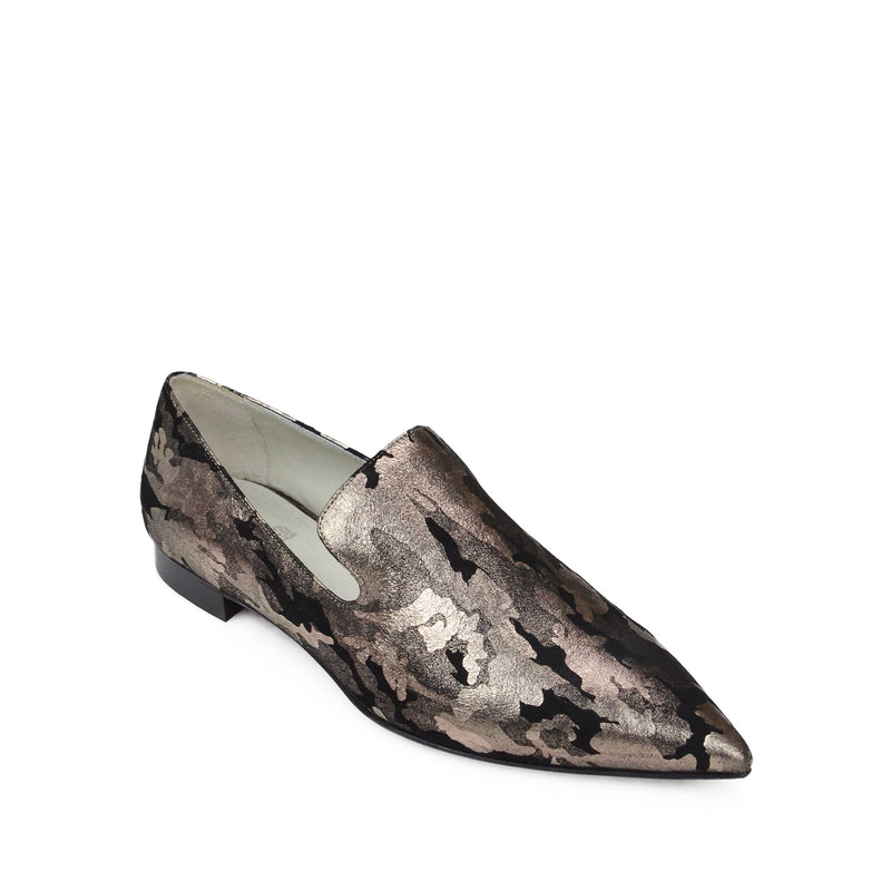 Flavia Printed Slip-on Loafer - Camo Suede