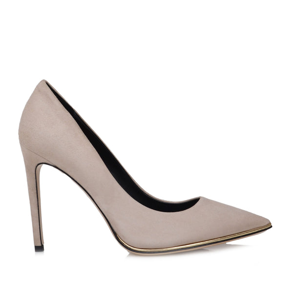 Gala Suede Pump  - Cream Suede - Soho Exclusive