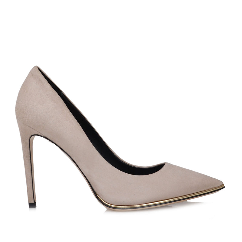 Gala Suede Pump  - Cream Suede - Online Exclusive