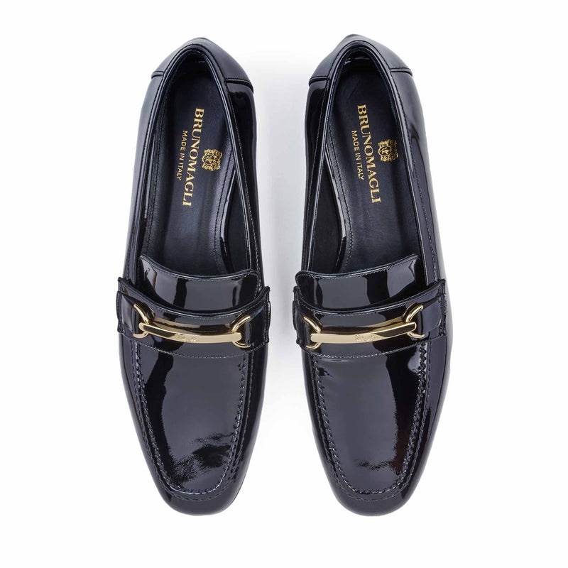 Marco Women's Patent Leather Bit Loafer - Black Patent Leather