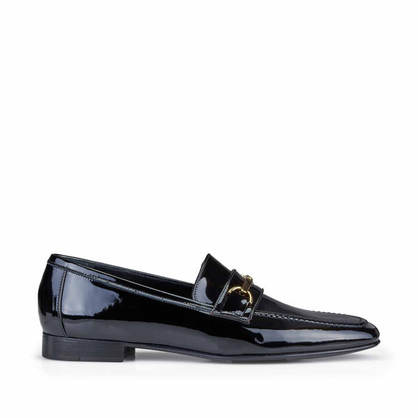 Marco Women's Patent Leather Bit Loafer - Black Patent Leather - FINAL SALE