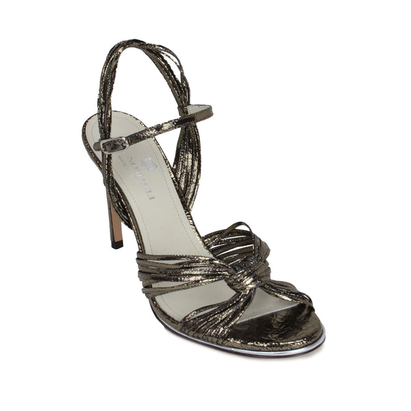 Nora Sandal - Gunmetal Crackle