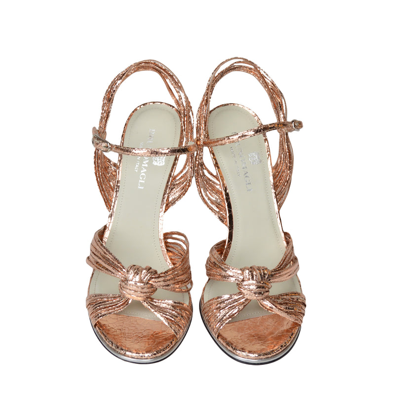 Nora Sandal - Rose Gold Crackle