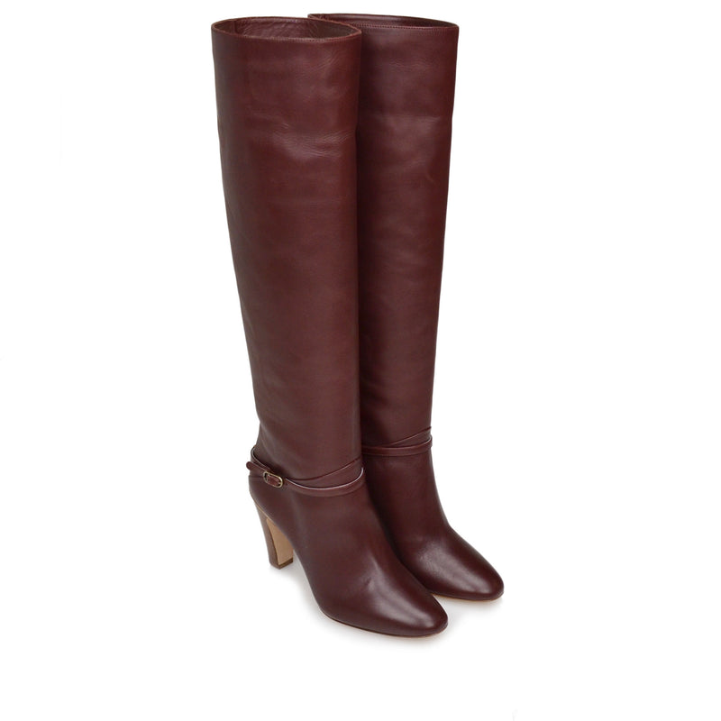 Vanessa Boot  - Wine Leather - Online Exclusive