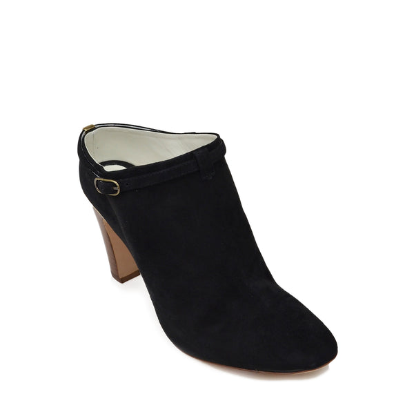 Vivian Heeled Mule Clog - Black Suede - Online Exclusive