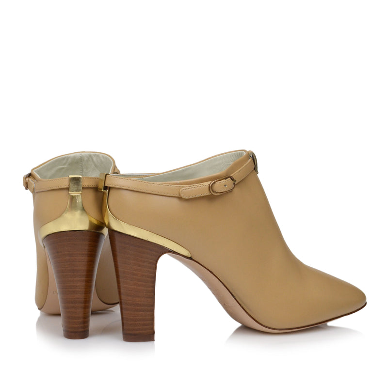 Vivian Heeled Mule Clog - Vanilla Leather - Online Exclusive