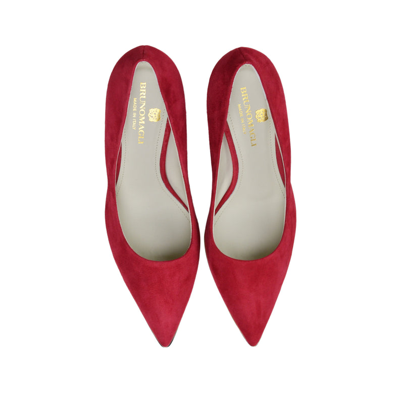 Galena Suede Pump  - Red Suede - Online Exclusive - FINAL SALE