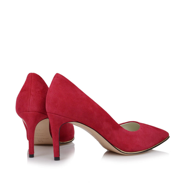 Galena Suede Pump - Soho Exclusive - Red Suede