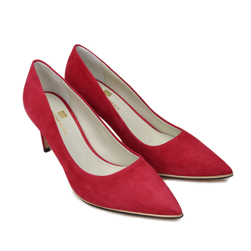 Galena Suede Pump  - Red Suede - Online Exclusive