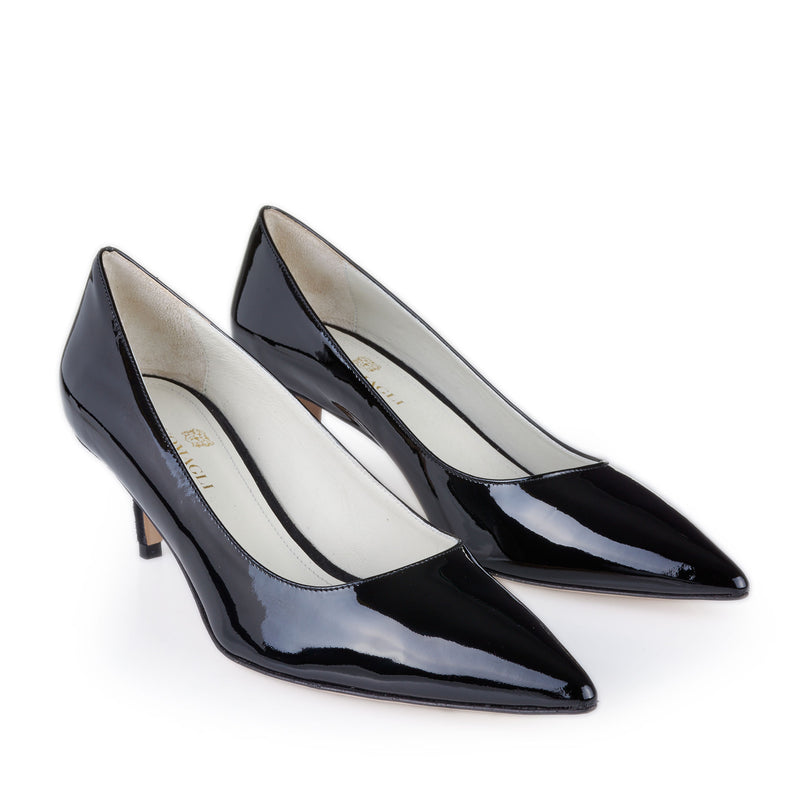 Perla Patent Leather Pump  - Black Patent Leather - Online Exclusive