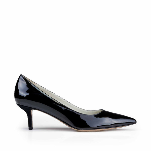 Perla Patent Leather Pump - Soho Exclusive - Black Patent Leather