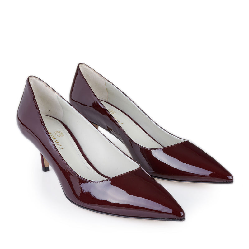 Perla Patent Leather Pump  - Wine Patent - Soho Exclusive