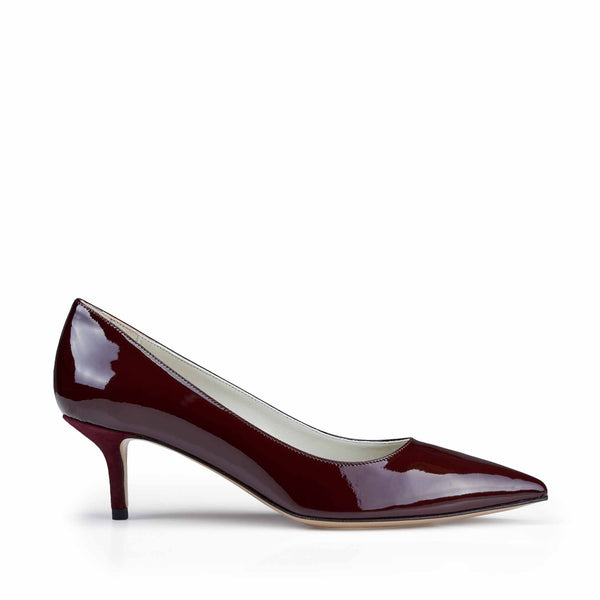 Perla Patent Leather Pump  - Wine Patent - Online Exclusive