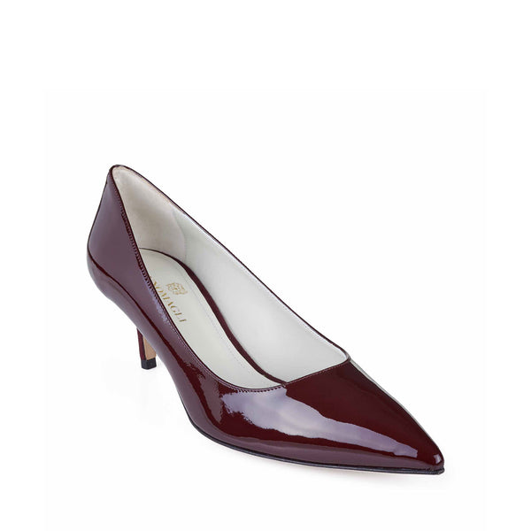 Perla Patent Leather Pump - Soho Exclusive - Wine Patent