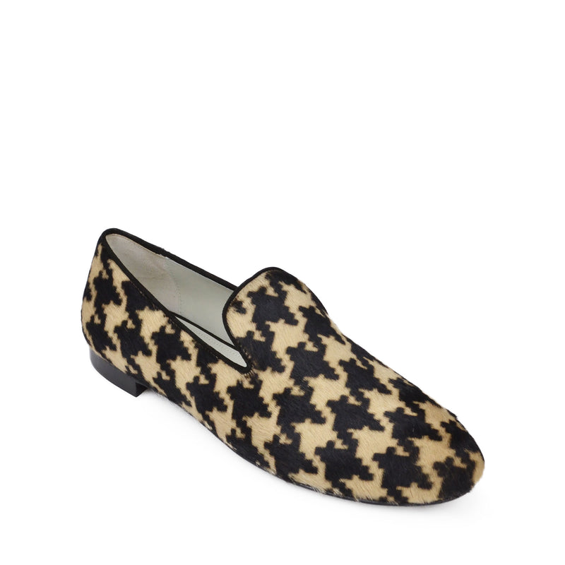 Teresa Pony Printed Loafer - Camel/Black Calf Hair