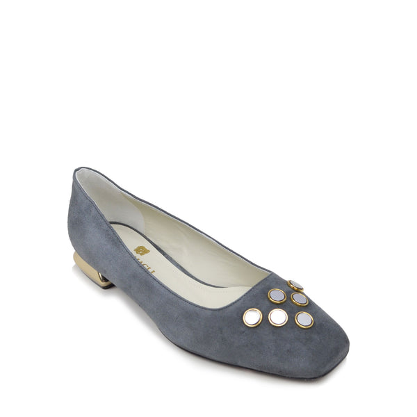 Tessa Flat  - Grey Suede - Online Exclusive