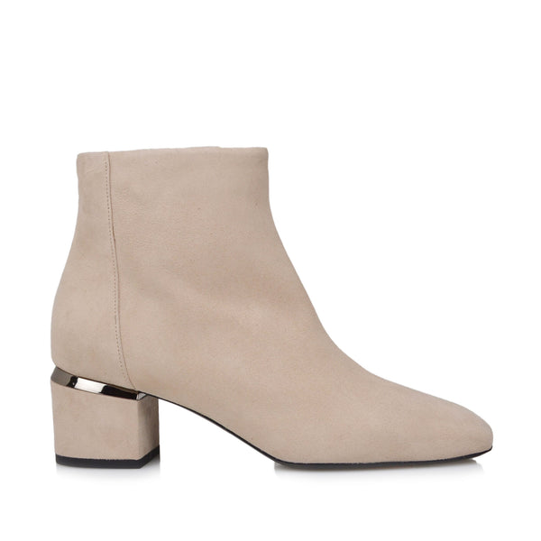 Valerie Boot  - Cream Suede - Soho Exclusive