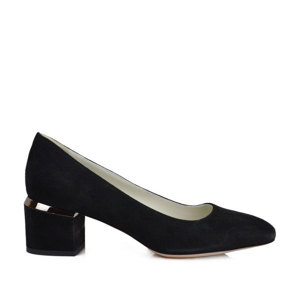 Violet Pump - Soho Exclusive - Black Suede