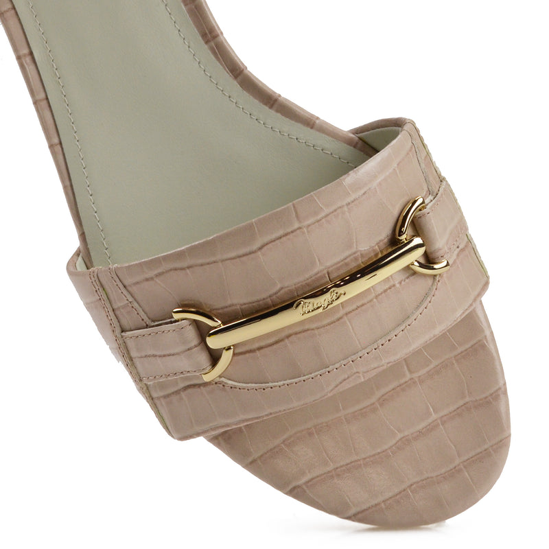 Amos Croc-Print Sandal  - Sand Croc-Print Leather - Online Exclusive