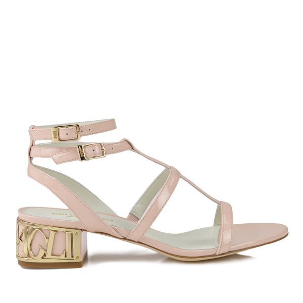 Veronica Patent Leather Sandal - Nude Patent Leather