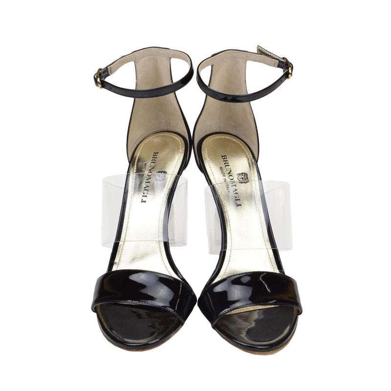 Nathalia Patent Leather Sandal - Black - FINAL SALE