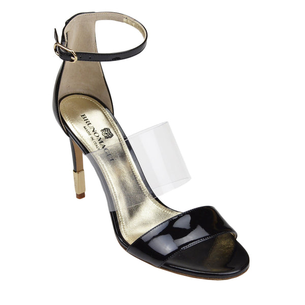Nathalia Patent Leather Sandal - Black