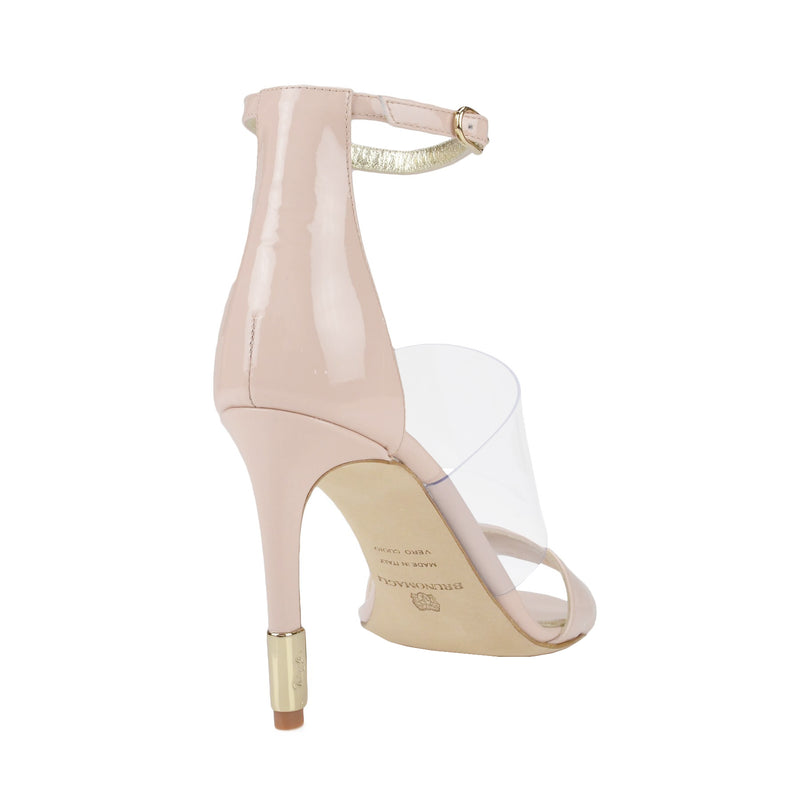 Nathalia Patent Leather Sandal - Nude Patent Leather