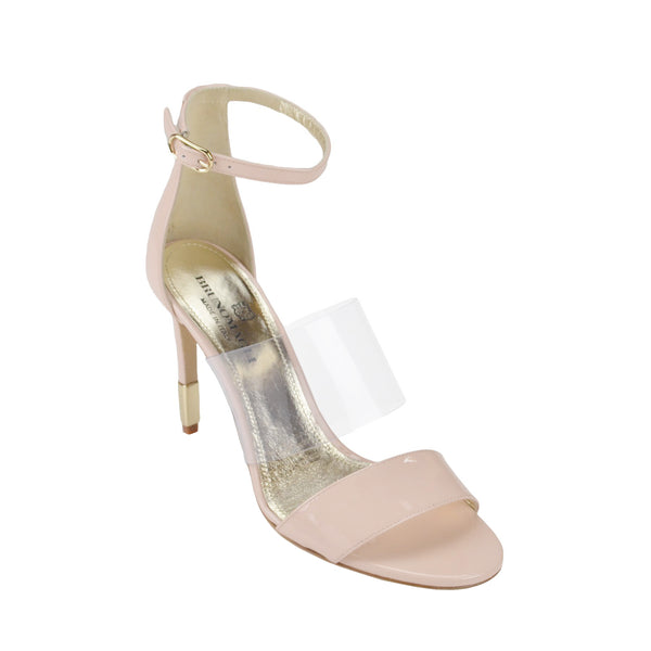 Nathalia Patent Leather Sandal - Nude Patent Leather - FINAL SALE