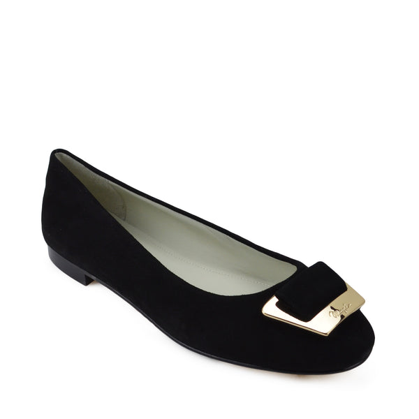 Vera Suede Ballet Flat - Black Suede - FINAL SALE