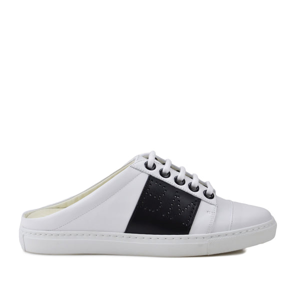 Sanny Backless Slip-On Sneakers - White/Black
