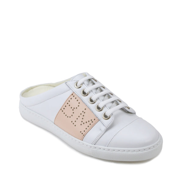 Sanny Backless Slip-On Sneakers - White/Nude