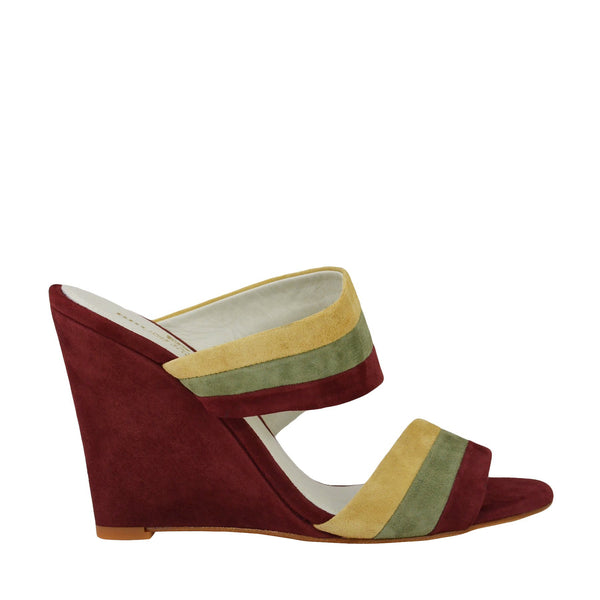 Kira Suede Slip-On Wedge Sandal - Spice Combo