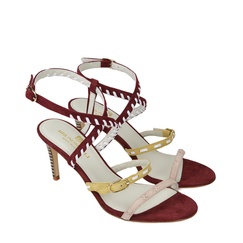 Marika Suede Strappy Sandal - Rust Combo - FINAL SALE