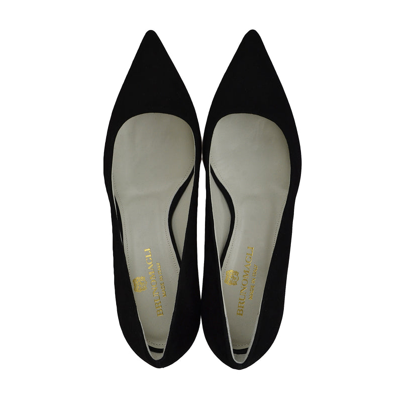 Milla Suede Pump - Black - FINAL SALE