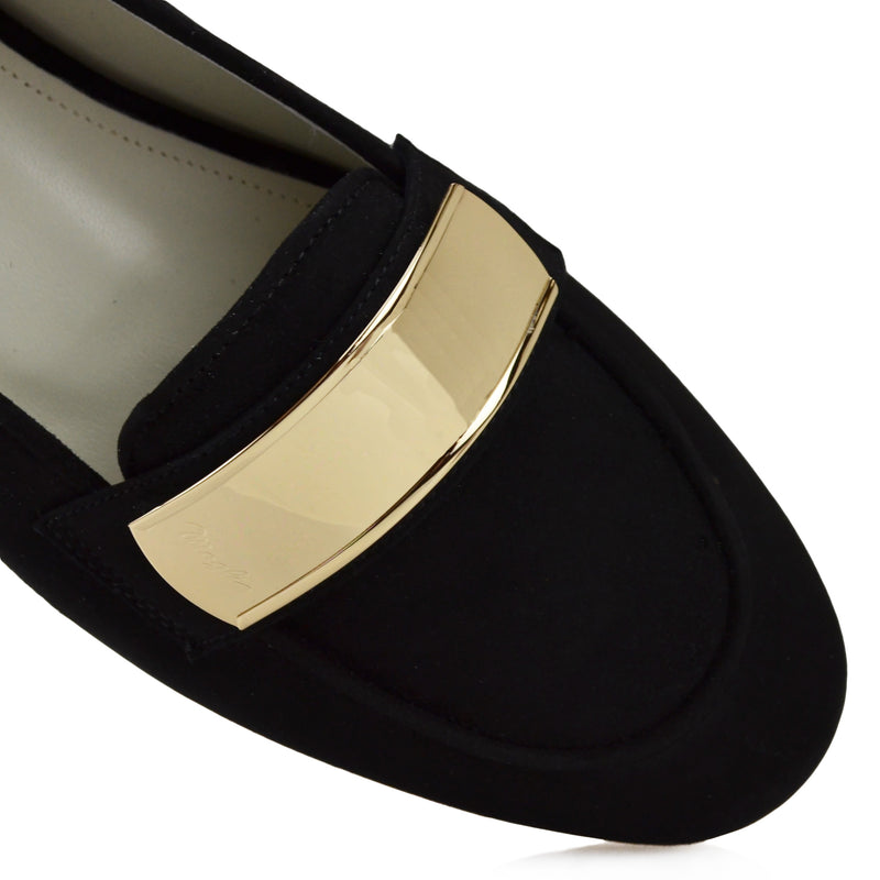 Simone Suede Loafer - Black - FINAL SALE