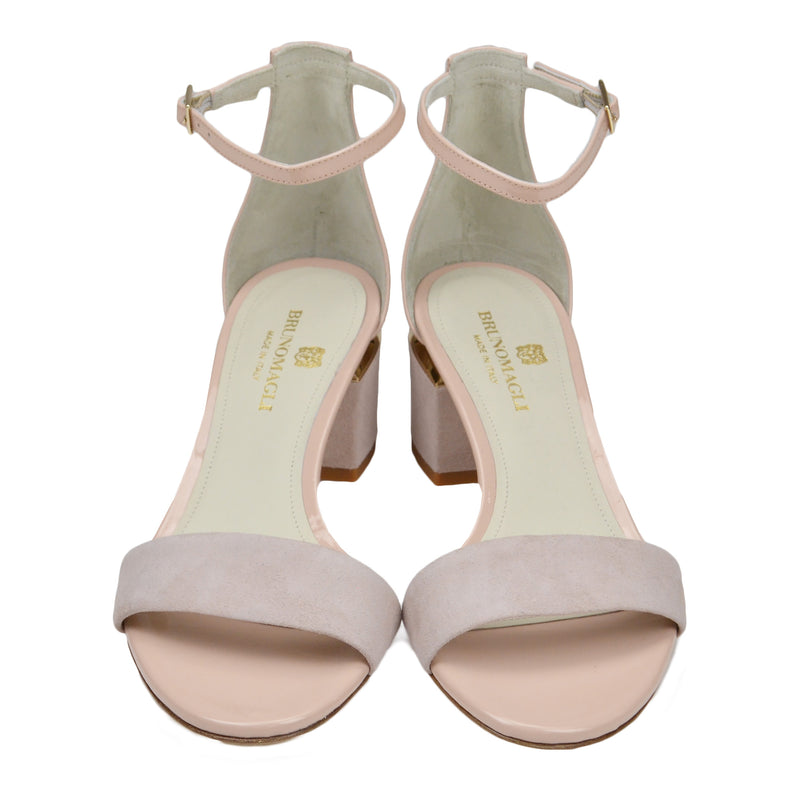 Dora Suede and Patent Sandal - Sand - FINAL SALE