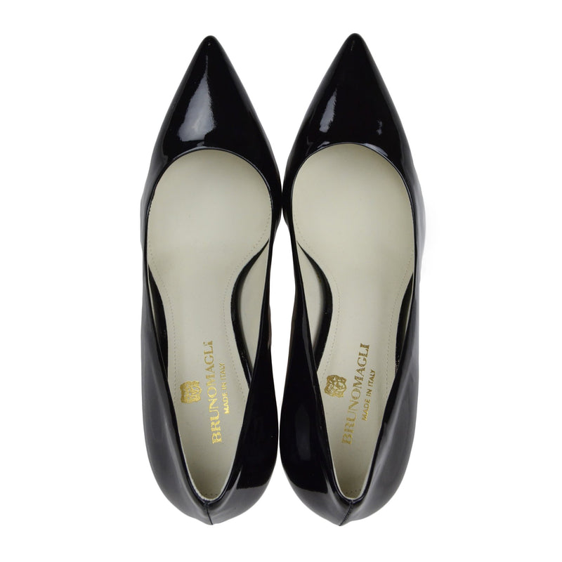 Elsa Patent Leather Pump - Black - FINAL SALE