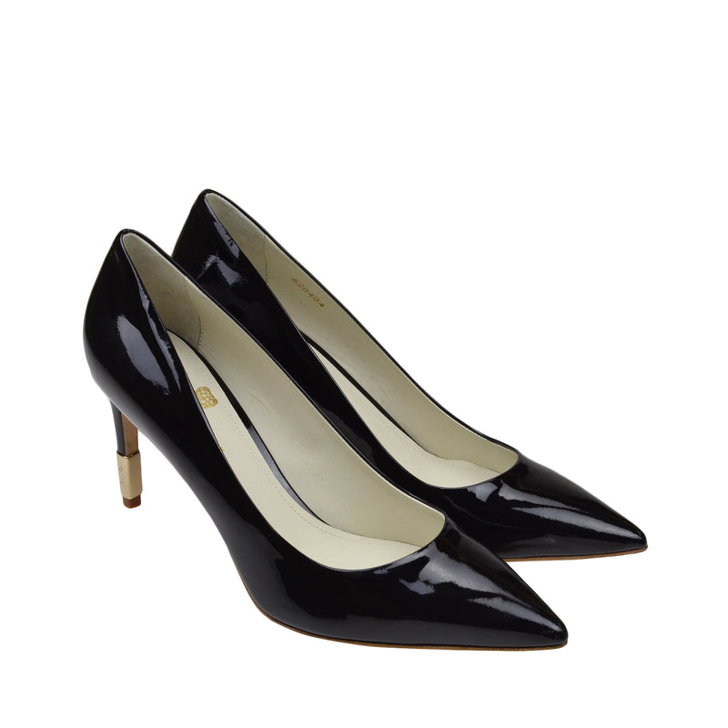 Elsa Patent Leather Pump - Black